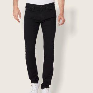 New! PAIGE Mens Lennox Black Shadow Pants 44